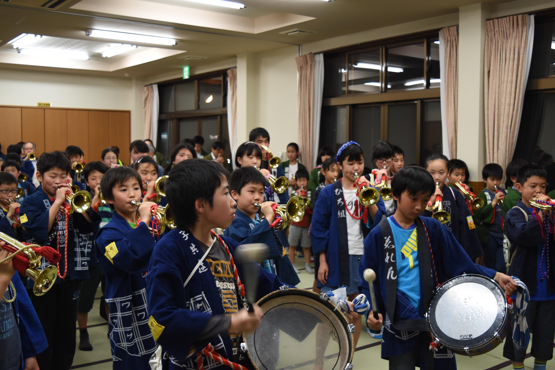 ラッパ隊 亀山町、高町、蜆塚町、山手町、広沢町合同練習