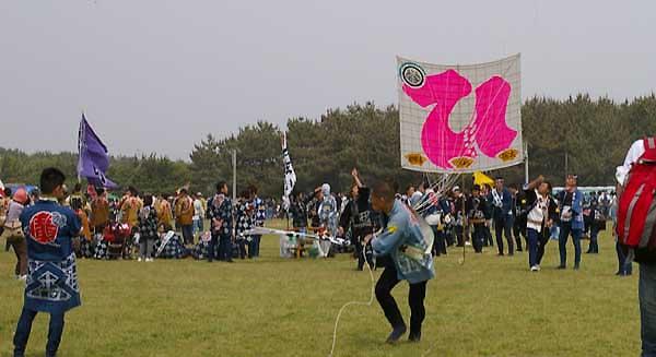 平成22年度(2010年)広沢町凧揚会ひ組 大人凧揚げ