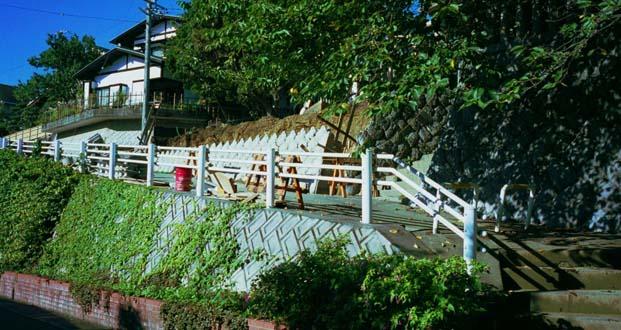 2002年の石垣改修時の様子