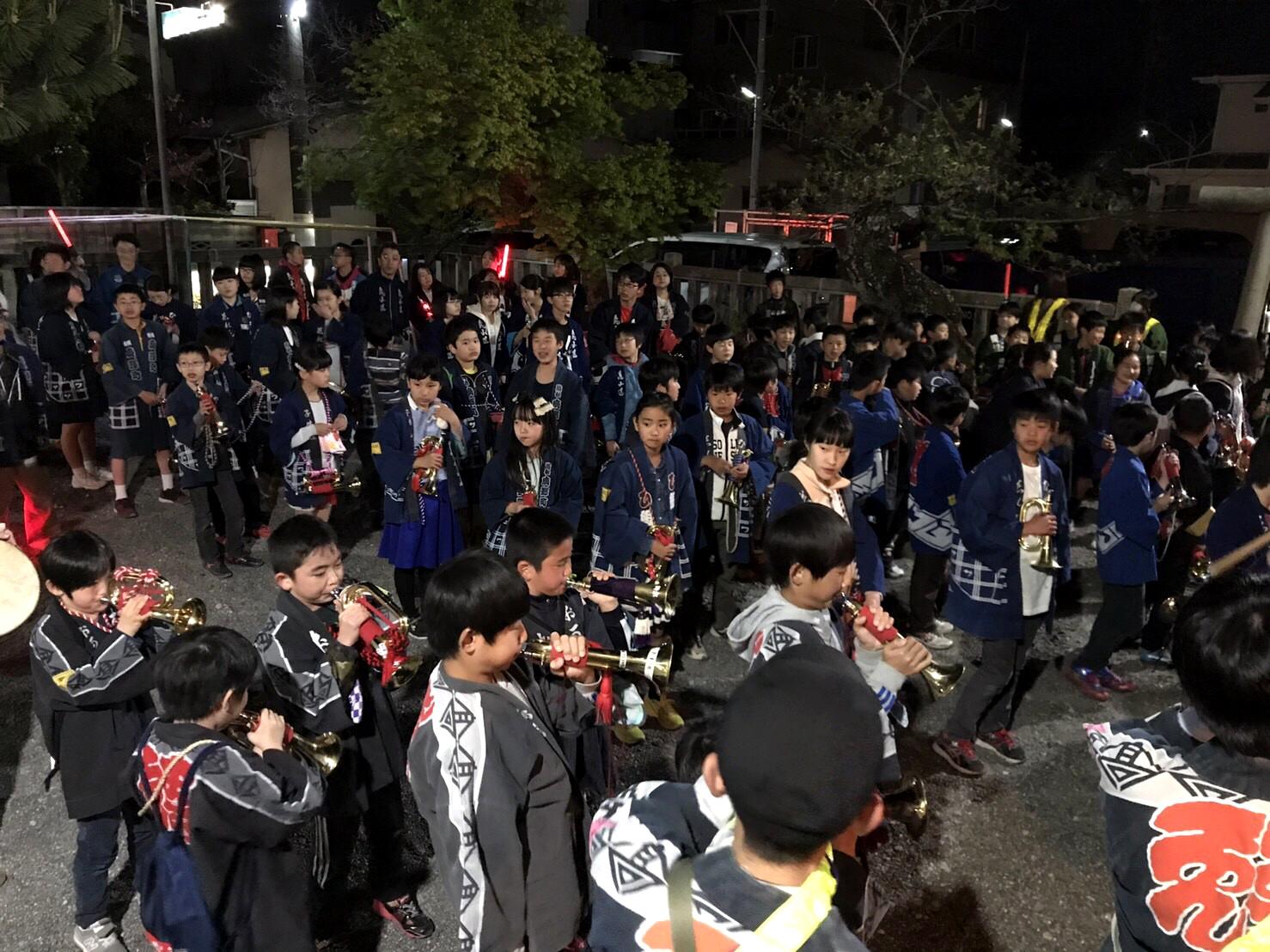 平成29年浜松まつりラッパ隊亀山・高町・山手町・蜆塚・広沢合同練習
