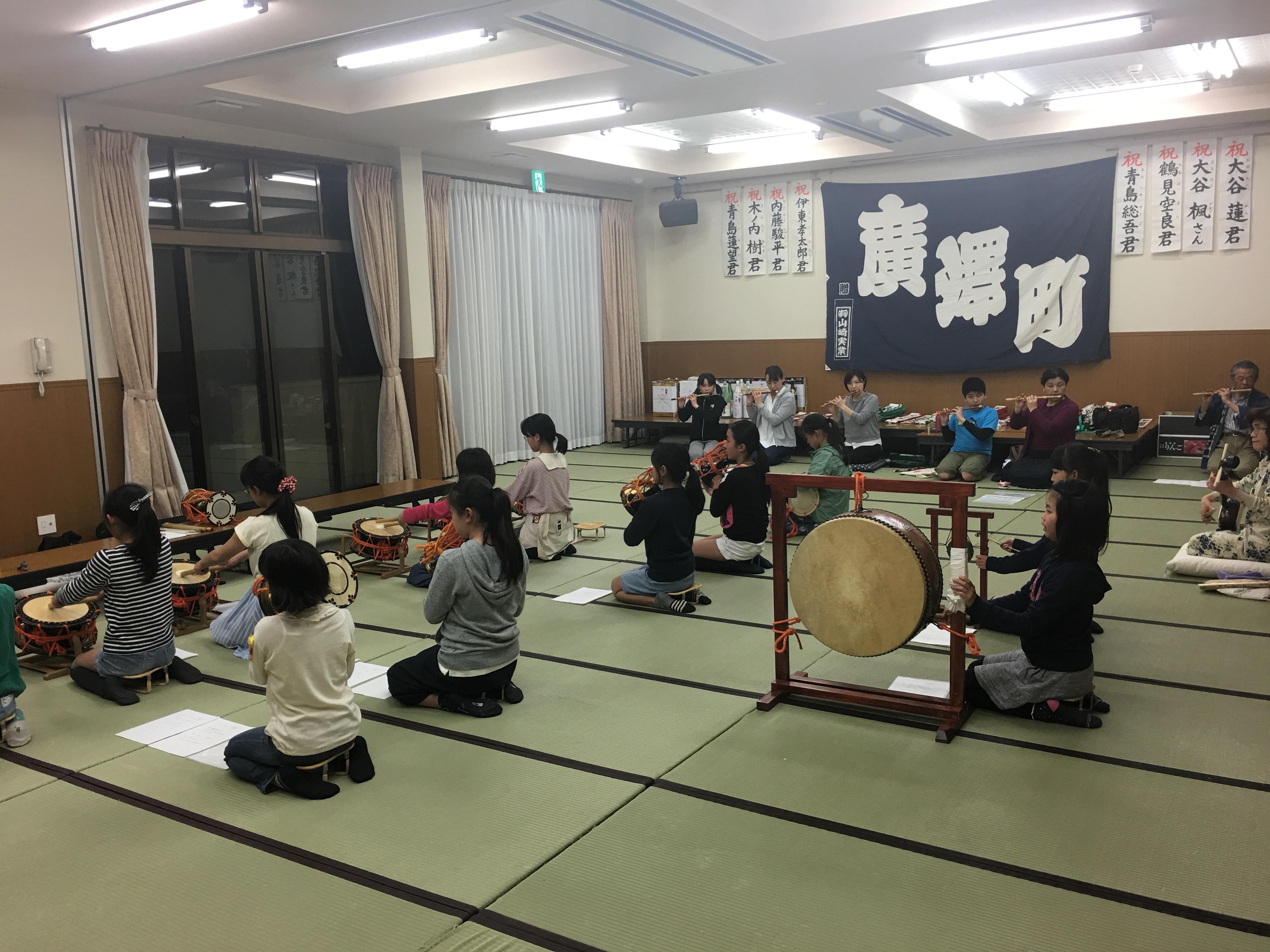 平成29年 浜松まつり広沢町凧揚会ひ組 お囃子練習