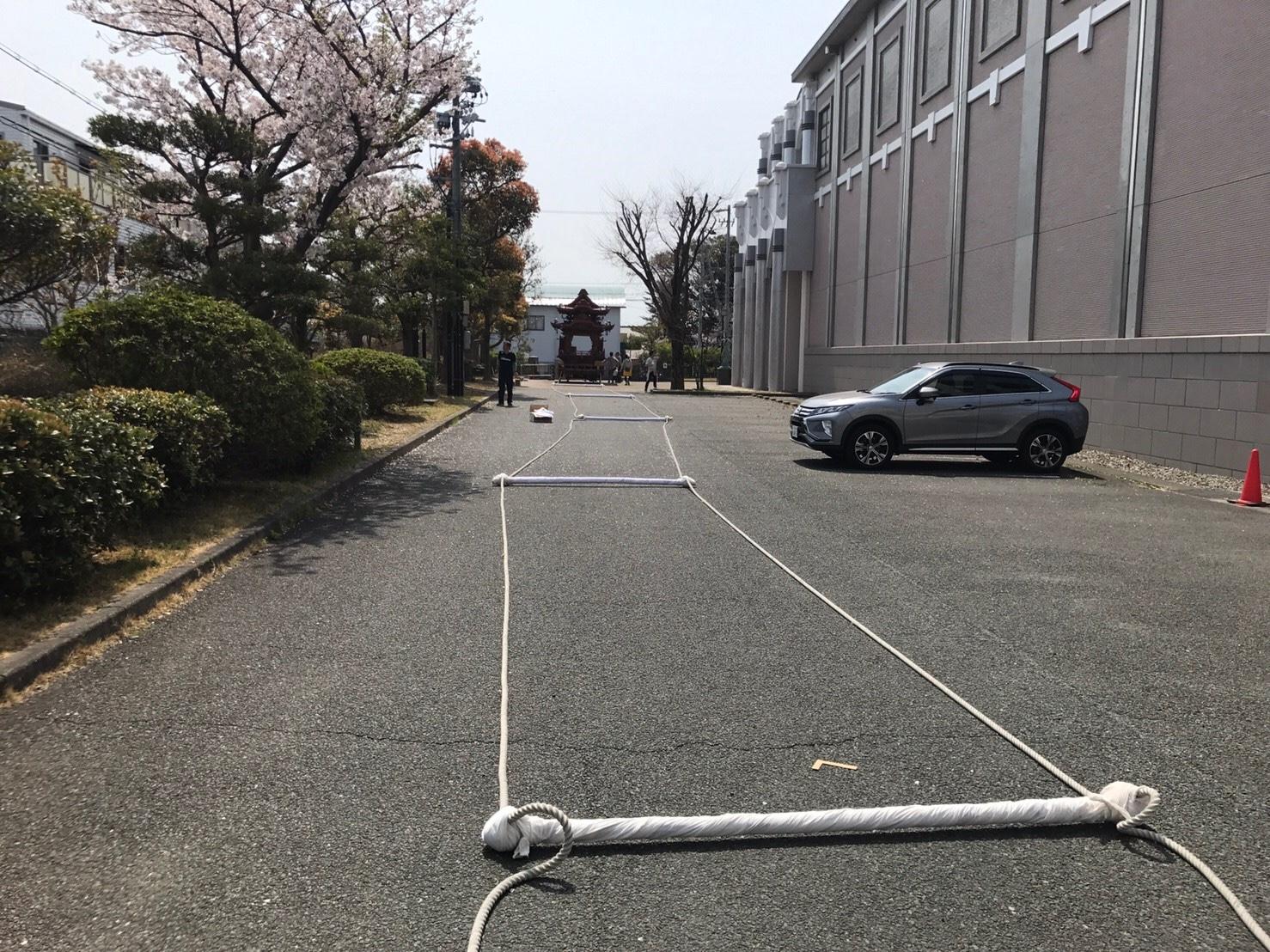 20190407浜松まつり準備 - 広沢ひ組の屋台